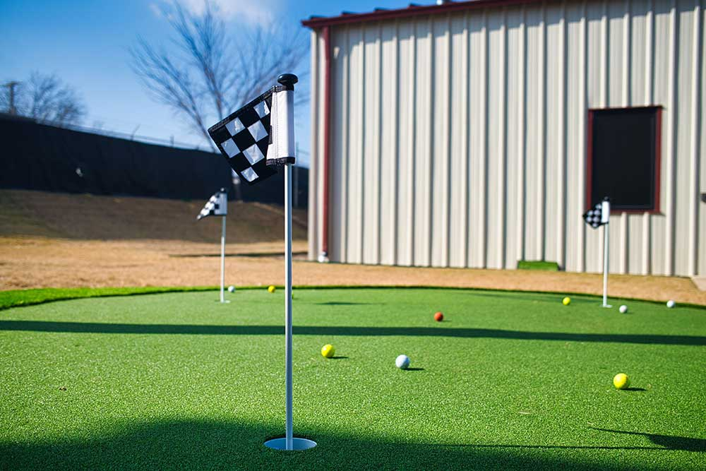 Turf for a Putting Green at a Fort Worth home