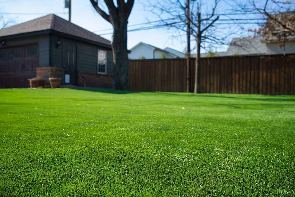 Synthetic Grass for a backyard at a Fort Worth home