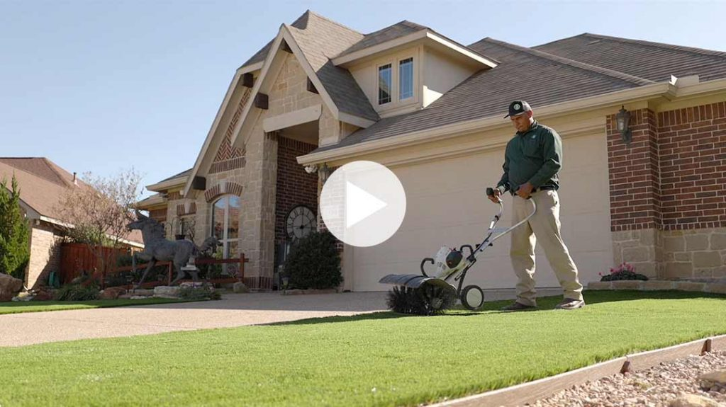 Maintenance for synthetic turf in Fort Worth